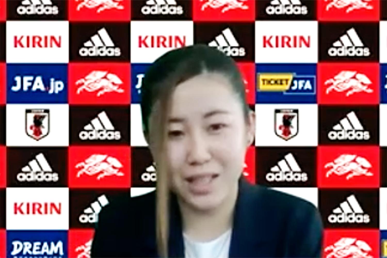 【日本女子代表/WEB取材】ユース五輪はバックアップメンバーで参加できなかった北嶋笑。「銀メダルを間近で見た悔しさから奮起してやってきました」